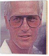 Paul Newman 1925 - 2008 Wood Print by Mike Flynn