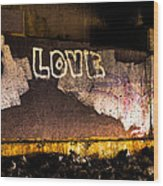 Peace And Love Under The Bridge Wood Print by Bob Orsillo