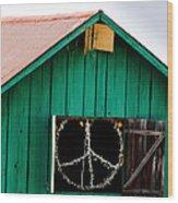 Peace Barn Wood Print by Bill Gallagher