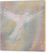 Peace Dove Wood Print by Anne Cameron Cutri