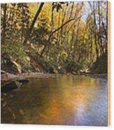 Peace Like A River Wood Print by Debra and Dave Vanderlaan
