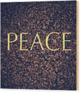 Peace Wood Print by Tim Gainey
