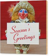 Peaches - Season's Greetings Wood Print by David Wiles