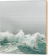 Pebble Beach In The Fog Wood Print by Artist and Photographer Laura Wrede