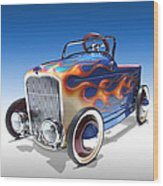 Peddle Car Wood Print by Mike McGlothlen
