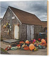 Peggy's Cove 15 Wood Print by Betsy Knapp
