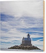 Penfield Reef Lighthouse Fairfield Connecticut Wood Print by Stephanie McDowell