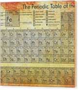 Periodic Table Of The Elements Wood Print by Georgia Fowler