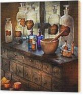 Pharmacist - Medicinal Equipment  Wood Print by Mike Savad
