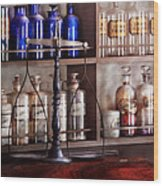Pharmacy - Apothecarius  Wood Print by Mike Savad