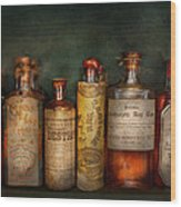 Pharmacy - Daily Remedies  Wood Print by Mike Savad