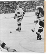 Phil Esposito In Action Wood Print by Gianfranco Weiss