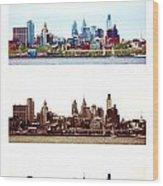 Philadelphia Four Seasons Wood Print by Olivier Le Queinec