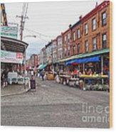 Philadelphia Italian Market 4 Wood Print by Jack Paolini