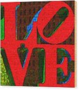 Philadelphia Love - Painterly V1 Wood Print by Wingsdomain Art and Photography