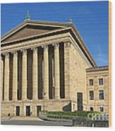 Philadelphia Museum Of Art Rear Facade Wood Print by Olivier Le Queinec