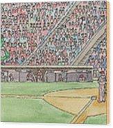 Phillies Game Wood Print by Cee Heard