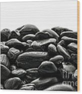 Pile Of Stones Wood Print by Olivier Le Queinec
