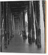 Pillars And Fog 2 Wood Print by Paul Topp
