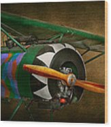 Pilot - Plane - German Ww1 Fighter - Fokker D Viii Wood Print by Mike Savad