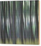Pine Forest. Blurred Wood Print by Bernard Jaubert