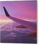 Pink Flight Wood Print by Chad Dutson