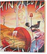 Pink Floyd The Wall Wood Print by Joshua Morton
