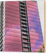 Pink Glass Buildings Can Be Pretty Wood Print by Randall Weidner