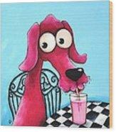 Pink Milk Wood Print by Lucia Stewart