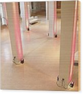 Pink Pillars I Wood Print by Anna Villarreal Garbis