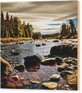 Piscataquis River Dover-foxcroft Maine Wood Print by Bob Orsillo