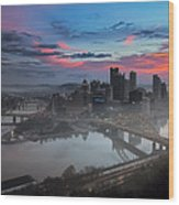 Pittsburgh January Thaw Wood Print by Jennifer Grover
