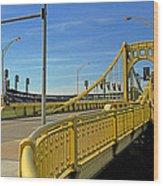 Pittsburgh - Roberto Clemente Bridge Wood Print by Frank Romeo