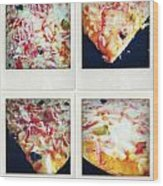 Pizza Wood Print by Les Cunliffe