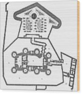 Plan Of The Bastille Wood Print by Granger