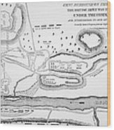 Plan Of The Battle Of Saratoga October 1777 Wood Print by American School