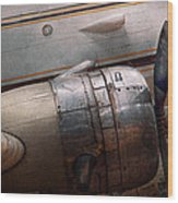 Plane - A Little Rough Around The Edges Wood Print by Mike Savad