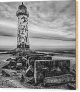 Point Of Ayre Lighthouse Wood Print by Adrian Evans