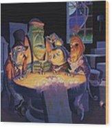 Poker Buddies Wood Print by Richard Moore