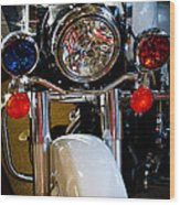 Police Harley Wood Print by David Patterson
