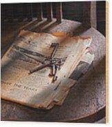Police - The Wardens Keys Wood Print by Mike Savad