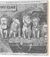 Political Puppy Class Wood Print by Konni Jensen
