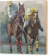 Polo Wood Print by Laurie Hein