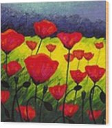 Poppy Corner IIi Wood Print by John  Nolan