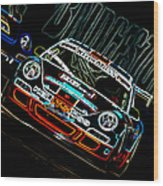 Porsche 911 Racing Wood Print by Sebastian Musial