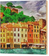 Portofino I Wood Print by George Rossidis