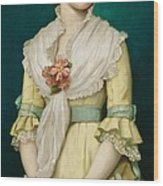 Portrait Of A Young Girl Wood Print by George Chickering Munzig
