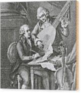 Portrait Of Franz Joseph Haydn Wood Print by John Francis Rigaud