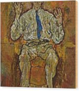 Portrait Of Paris Von Gutersloh Wood Print by Egon Schiele