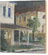 Post Office Apalachicola Wood Print by Susan Richardson